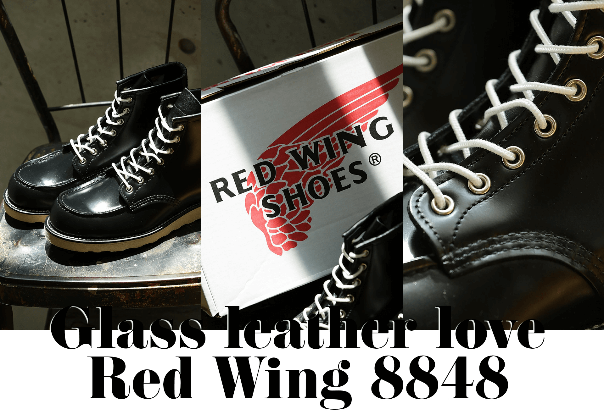 Glass leather love Red Wing 8848