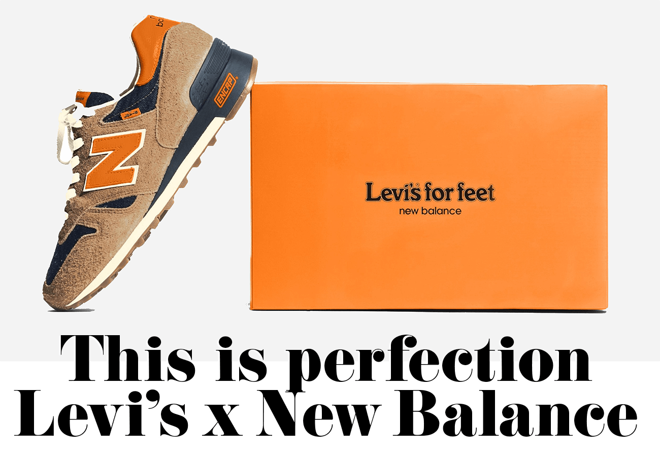 This is perfection Levi's x New Balance