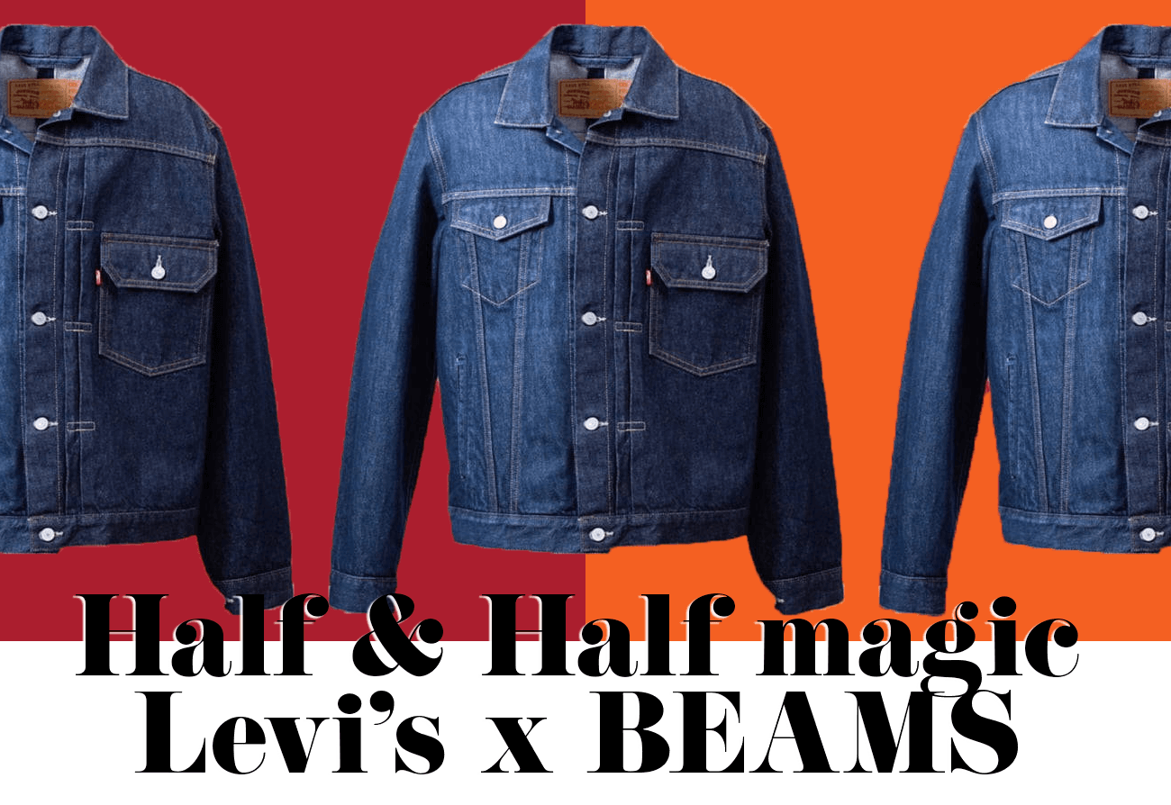 Half and half magic Levi's x BEAMS