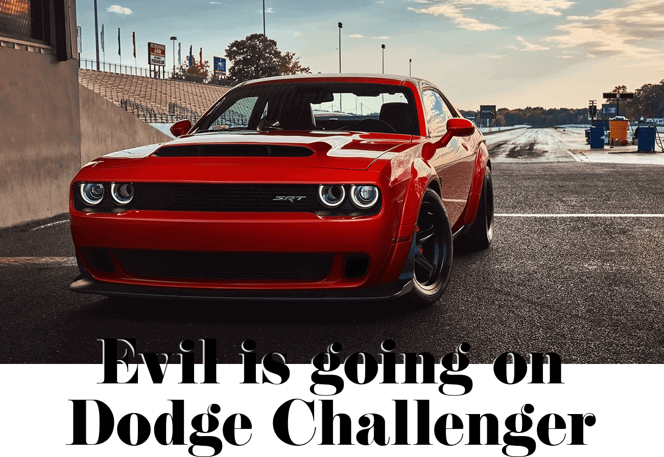 Evil is going on Dodge Challenger